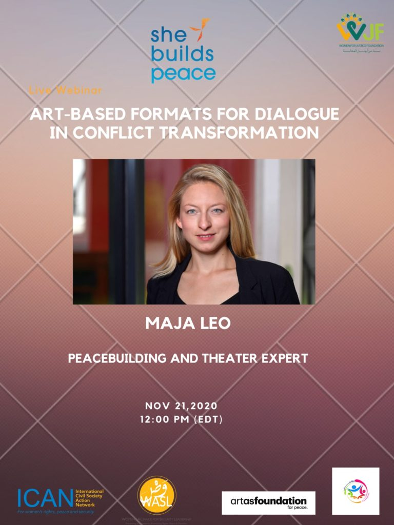 Live Webinar : Art-based formats for dialogue in conflict transformation.