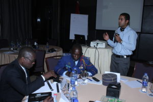 Me training African Diplomats and Military personnel on Conflict resolution and Peacebuilding