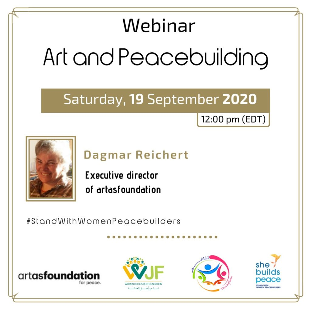 Live Webinar : Art and Peacebuilding.